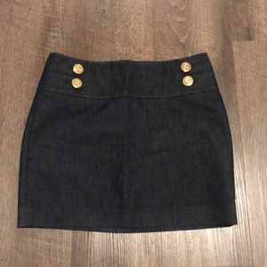 Express denim skirt nautical inspired